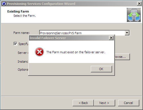 Provisioning Services 5.1 Specify Database Mirror Failover Partner...Huh?