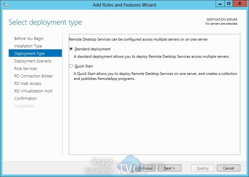 machine based desktop deployment