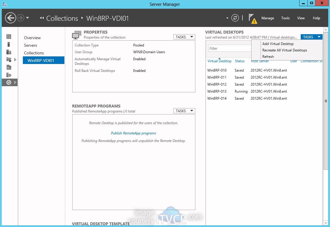 Deploying Windows 8 Virtual Desktop Infrastructure on Windows Server
