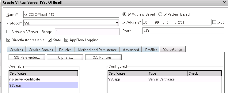 NetScaler SSL Offload – Overview and Sample Configuration