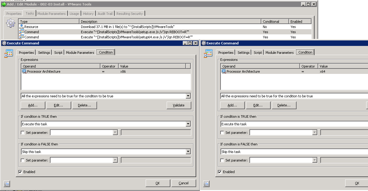 When to use conditions and evaluators in RES Automation