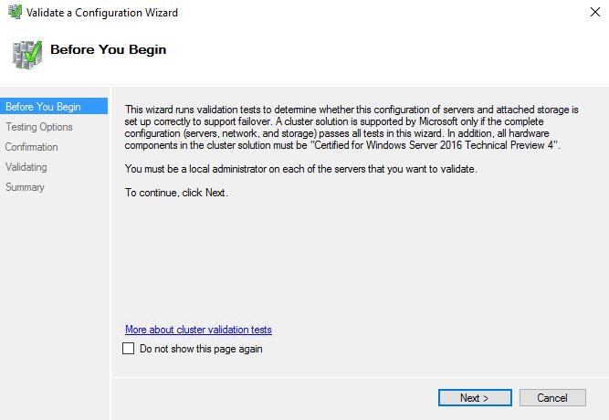Validating that for each cluster disk support scsi page 83h vpd descriptors