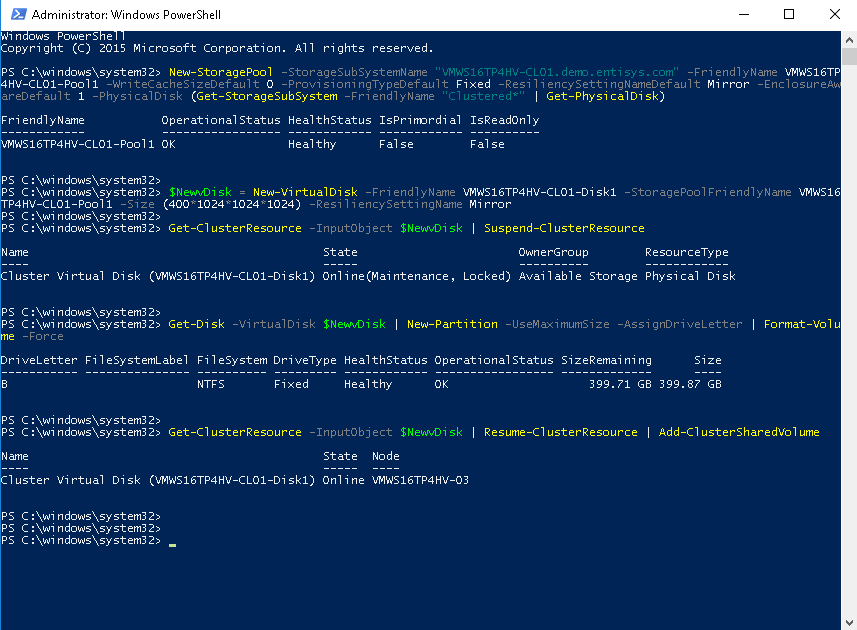 Introduction and Evaluation of Windows Server 2016 TP4 Hyper