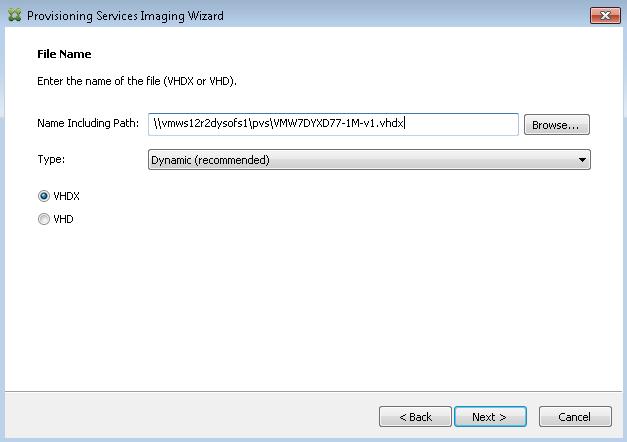 Citrix Provisioning Services (PVS) 7 6 vs  7 7, VHD vs  VHDX