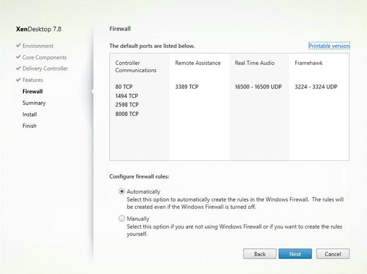 Installation and Configuration of Citrix XenApp & XenDesktop